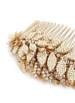 Baroque pearl layered leaf hair comb