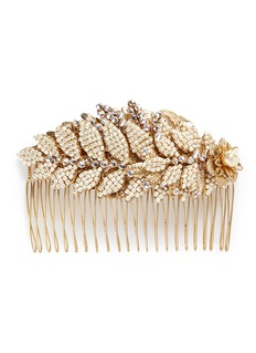 Miriam Haskell Baroque pearl layered leaf hair comb