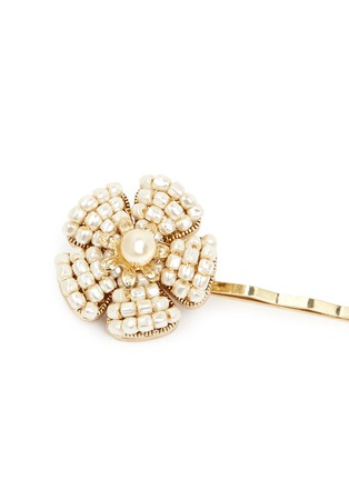 Detail View - Click To Enlarge - Miriam Haskell - Baroque pearl floral stud hair clip