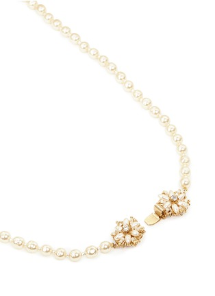 Miriam Haskell - Filigree floral clasp Baroque pearl necklace