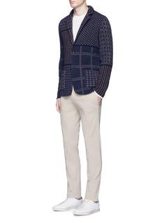 LardiniIntarsia patchwork knit blazer