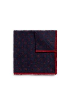 LardiniFloral print wool-silk pocket square