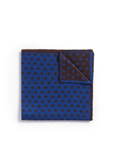 LardiniPolka dot wool knit pocket square