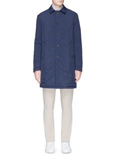 LardiniReversible cashmere and shell coat