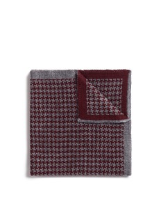 Lardini Houndstooth wool knit pocket square