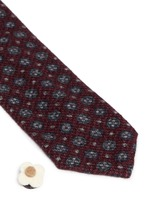 Floral foulard print brushed cotton tie