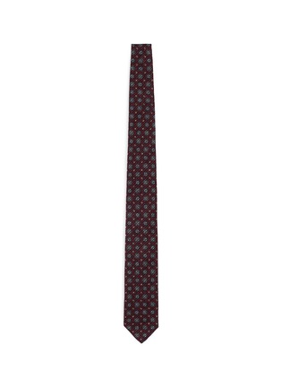 Main View - Click To Enlarge - Lardini - Floral foulard print brushed cotton tie