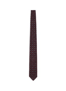 Lardini Floral foulard print brushed cotton tie