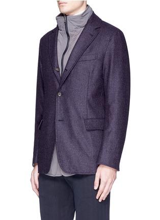 Detail View - Click To Enlarge - Lardini - Reversible field jacket blazer