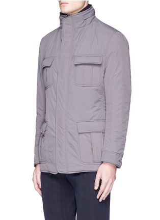 Front View - Click To Enlarge - Lardini - Reversible field jacket blazer
