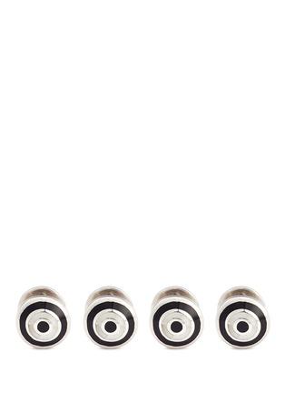 首图 - 点击放大 - BABETTE WASSERMAN - 圈状图案纯银装饰扣套装