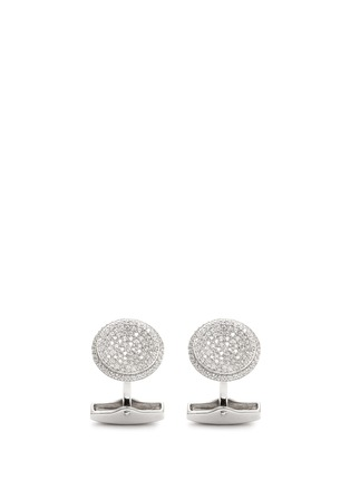 Main View - Click To Enlarge - Babette Wasserman - 'Puddle' cubic zirconia pavé cufflinks