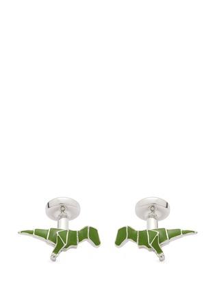Babette Wasserman-Origami dinosaur cufflinks