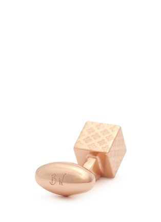 Detail View - Click To Enlarge - Babette Wasserman - 'Clover' cube cufflinks