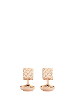 Main View - Click To Enlarge - Babette Wasserman - 'Clover' cube cufflinks