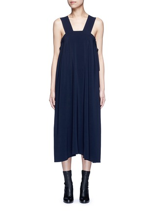 Main View - Click To Enlarge - Helmut Lang - Side tie crepe midi dress