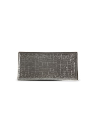 Main View - Click To Enlarge - L'Objet - Crocodile rectangle tray