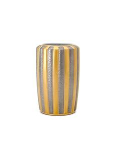 L'OBJETVoyage d'Or 拼色条纹瓷花瓶(小)