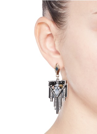 Figure View - Click To Enlarge - Lulu Frost - 'Citadel' glass opal drop earrings