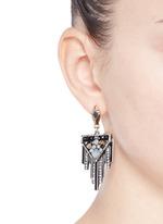 'Citadel' glass opal drop earrings