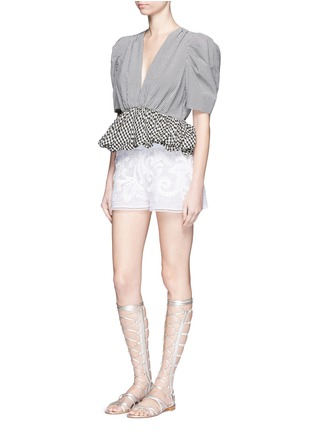 Figure View - Click To Enlarge - Lila.Eugenie - Macramé lace shorts