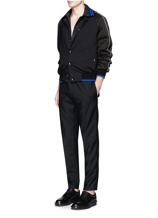 Figure View - Click To Enlarge - Lanvin - Contrast tipping teddy jacket