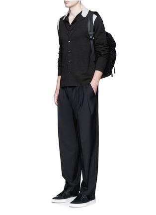 Lanvin-Contrast panel wool-silk cardigan