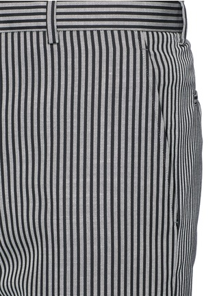 Detail View - Click To Enlarge - Lanvin - Stripe wool twill pants