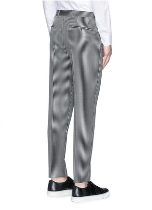Back View - Click To Enlarge - Lanvin - Stripe wool twill pants