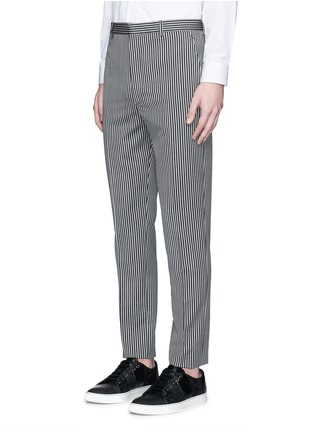 Front View - Click To Enlarge - Lanvin - Stripe wool twill pants
