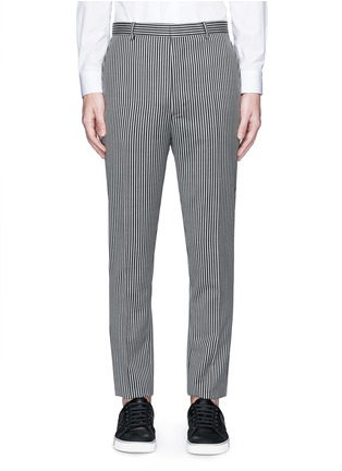Lanvin-Stripe wool twill pants