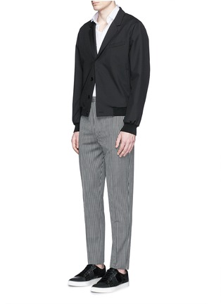 Figure View - Click To Enlarge - Lanvin - Stripe wool twill pants