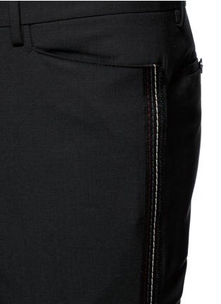 Lanvin-'D8' stitch seam wool slim pants