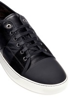 Panelled mix leather suede sneakers