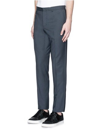 Lanvin - Raw edge side trim wool pants