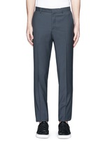 Raw edge side trim wool pants