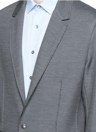 细节 - 点击放大 - LANVIN - 不包边棉混丝西服外套