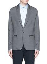Notch lapel double face silk-cotton jersey blazer