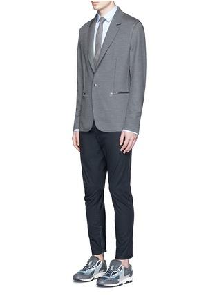 模特儿示范图 - 点击放大 - LANVIN - 不包边棉混丝西服外套
