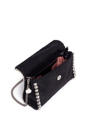 Detail View - Click To Enlarge - Stella McCartney - 'Falabella' mini strass crossbody chain bag