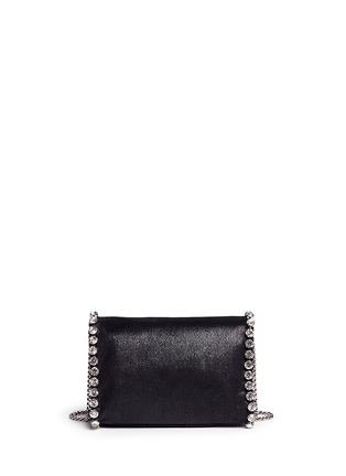 Back View - Click To Enlarge - Stella McCartney - 'Falabella' mini strass crossbody chain bag