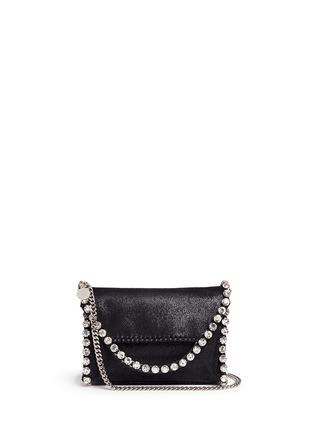Main View - Click To Enlarge - Stella McCartney - 'Falabella' mini strass crossbody chain bag