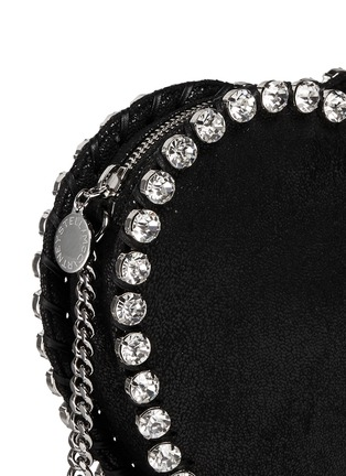 Detail View - Click To Enlarge - Stella McCartney - 'Falabella' strass heart shape crossbody bag
