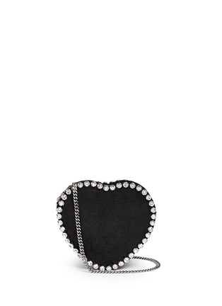 Main View - Click To Enlarge - Stella McCartney - 'Falabella' strass heart shape crossbody bag