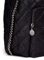 'Falabella' quilted shaggy deer chain backpack