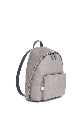 Front View - Click To Enlarge - Stella McCartney - 'Falabella' small shaggy deer backpack