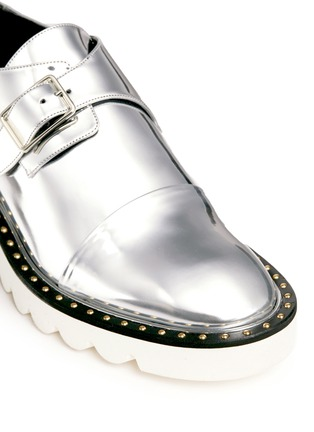 Detail View - Click To Enlarge - Stella McCartney - 'Odette' mirror eco leather monk strap shoes