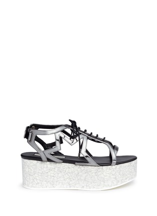 Stella McCartney - 'Lucy' marble effect platform metallic sandals