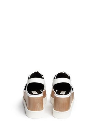 背面 - 点击放大 - STELLA MCCARTNEY - 镂空坡跟系带鞋