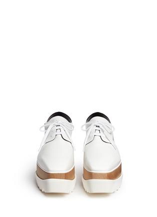 STELLA MCCARTNEY-镂空坡跟系带鞋